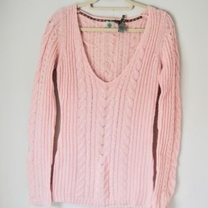 Anthropologie HWR Monogram cable knit sweater